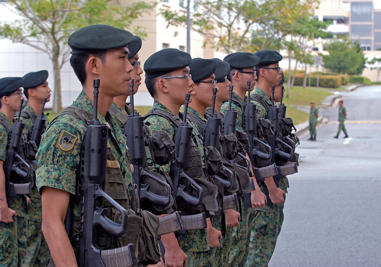 Singapore Singaporean Army ranks land ground forces combat field ...