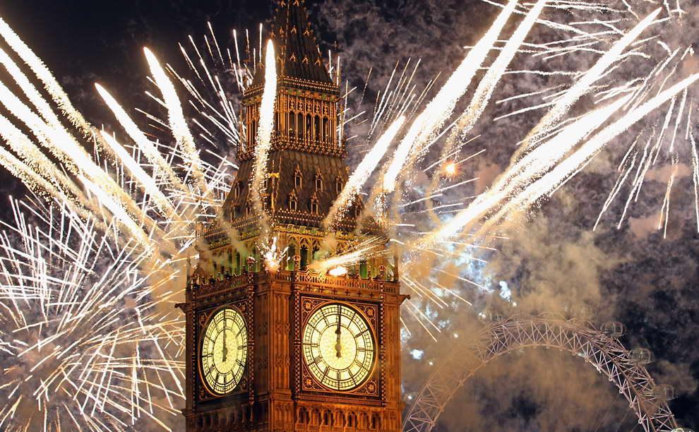 Англичане отмечают новый год