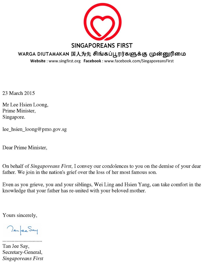 condolence-letter-to-pm