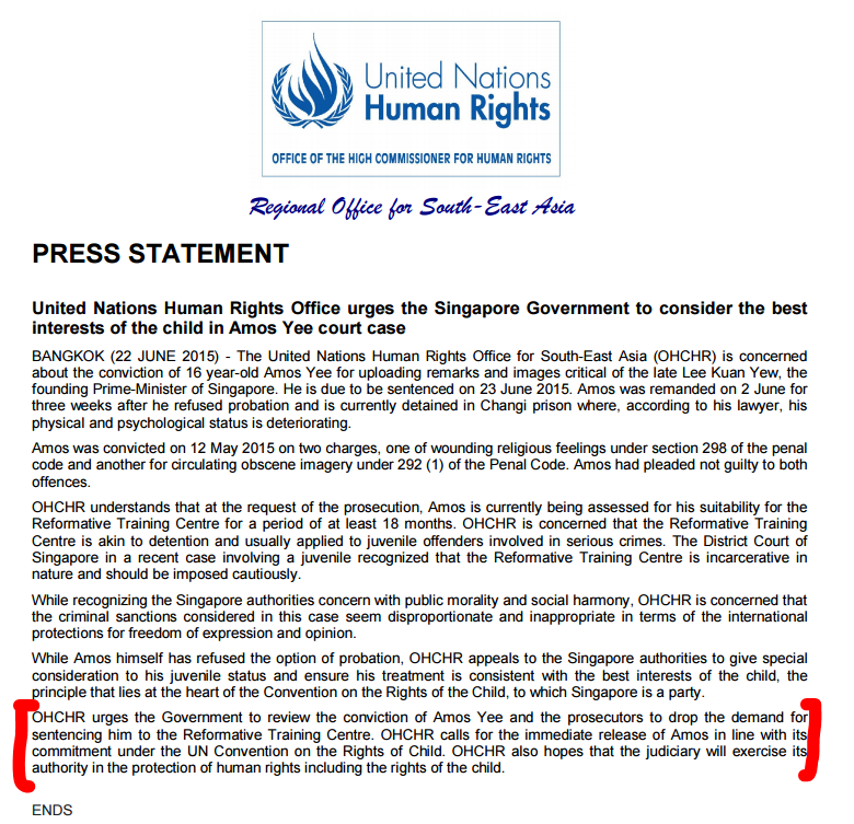 united nations statement