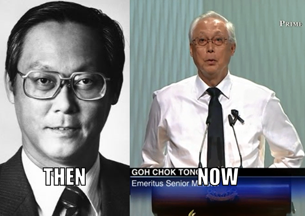 Goh Chok Tong then and now