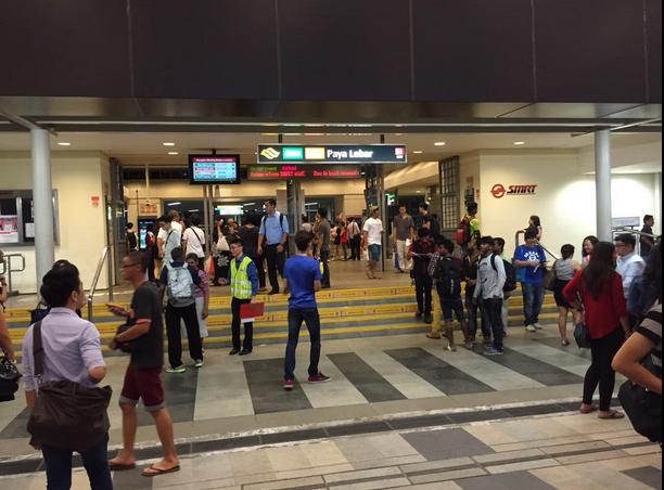 Scene at Paya Lebar MRT