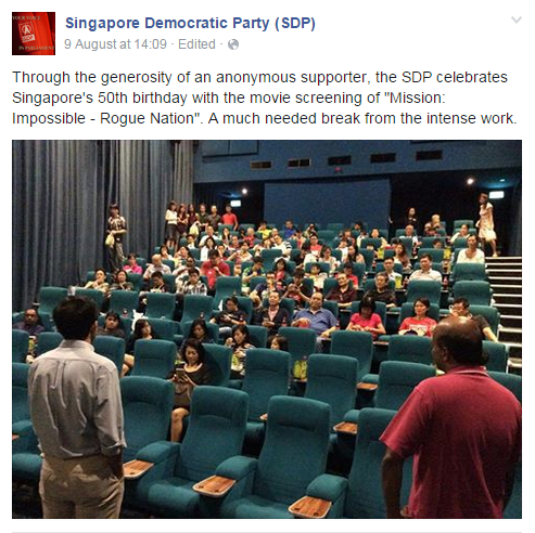SDP at the cinema