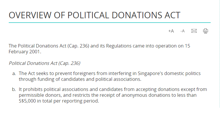 political donations act