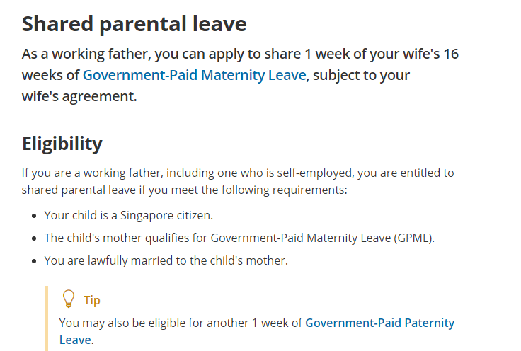 shared paternity leave