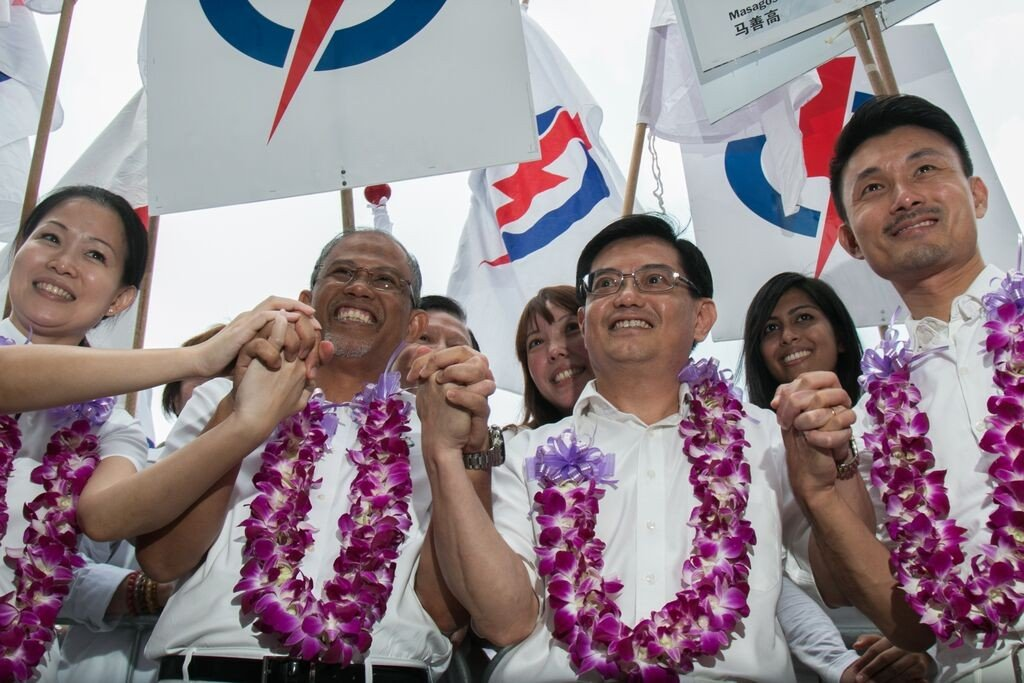 PAP Tampines GRC representatives posing for a media photo.