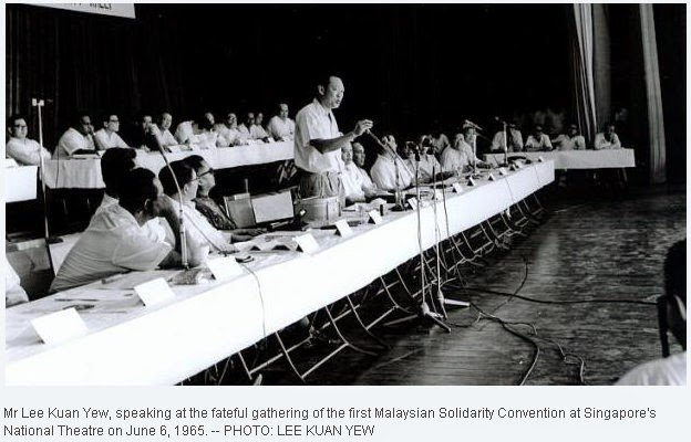 First Malaysian Solidarity Convention June 6, 1965 Photo Lee Kuan Yew