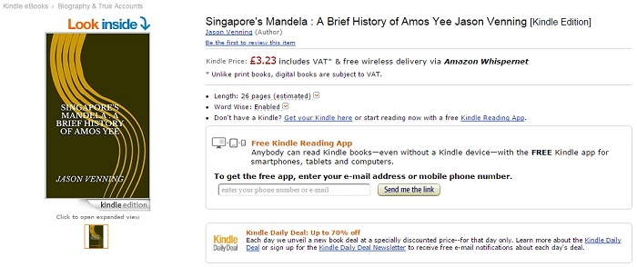 Amazon Is Selling A Book That Compares Amos Yee To Nelson