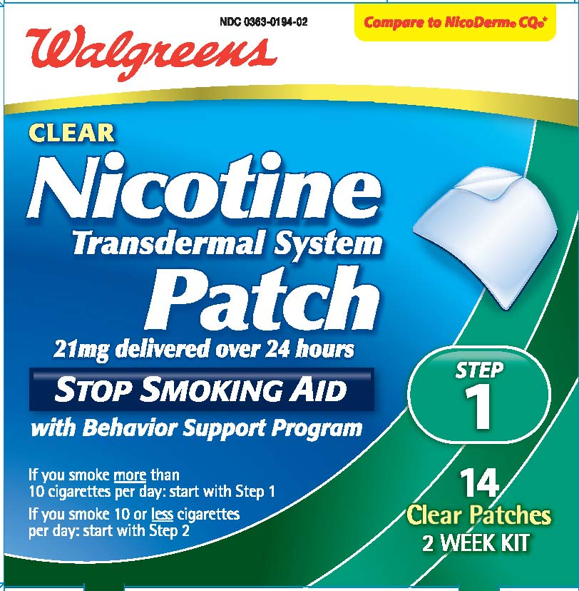 Duration and effectiveness of nicotine patch use.