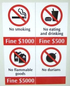 Legal things in Singapore_MRT FINEs