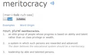 Untrue Propaganda_meritocracy definition