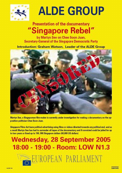censorship - singapore rebel