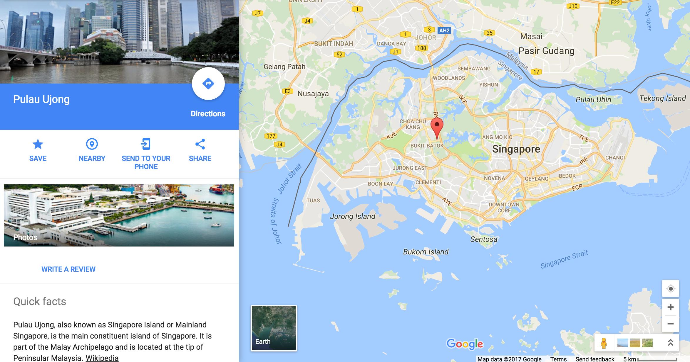 pulau ujong singapore history