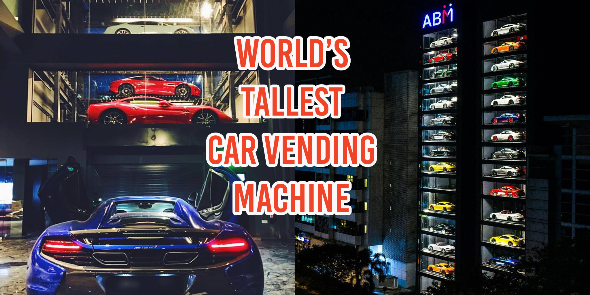 Car Vending Machine In Singapore Sells Lambos Ferraris And Bentleys