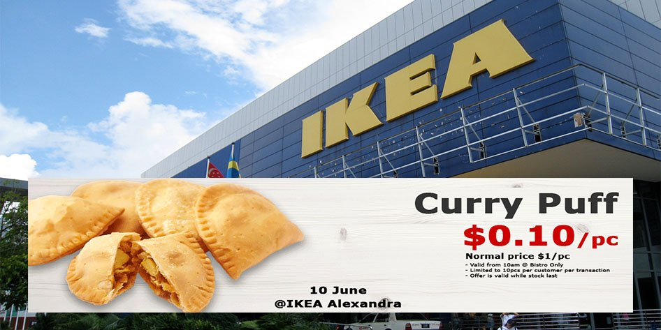 IKEA Alexandra Offers $0 10 Curry Puffs To Celebrate Bistro