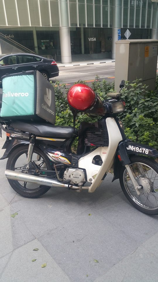 Malaysian-Registered Bike Appears To Be Working For Deliveroo