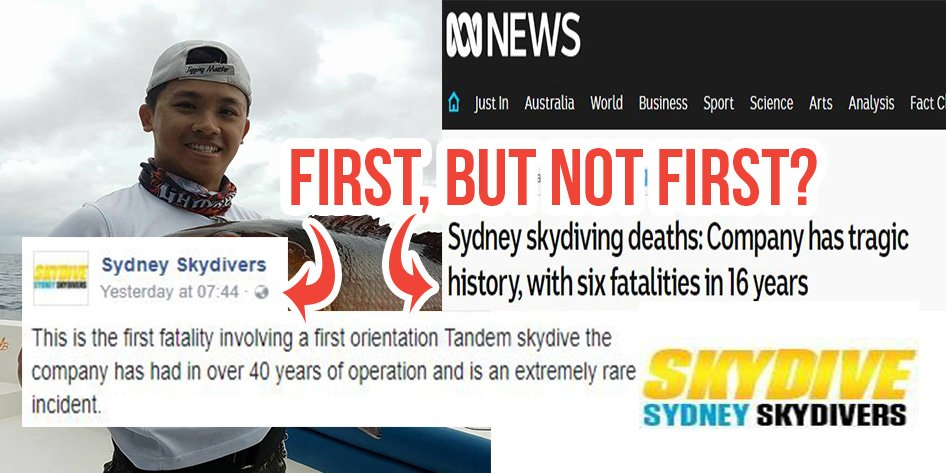 Sydney Skydiving Company Oversaw 4 Deaths Before