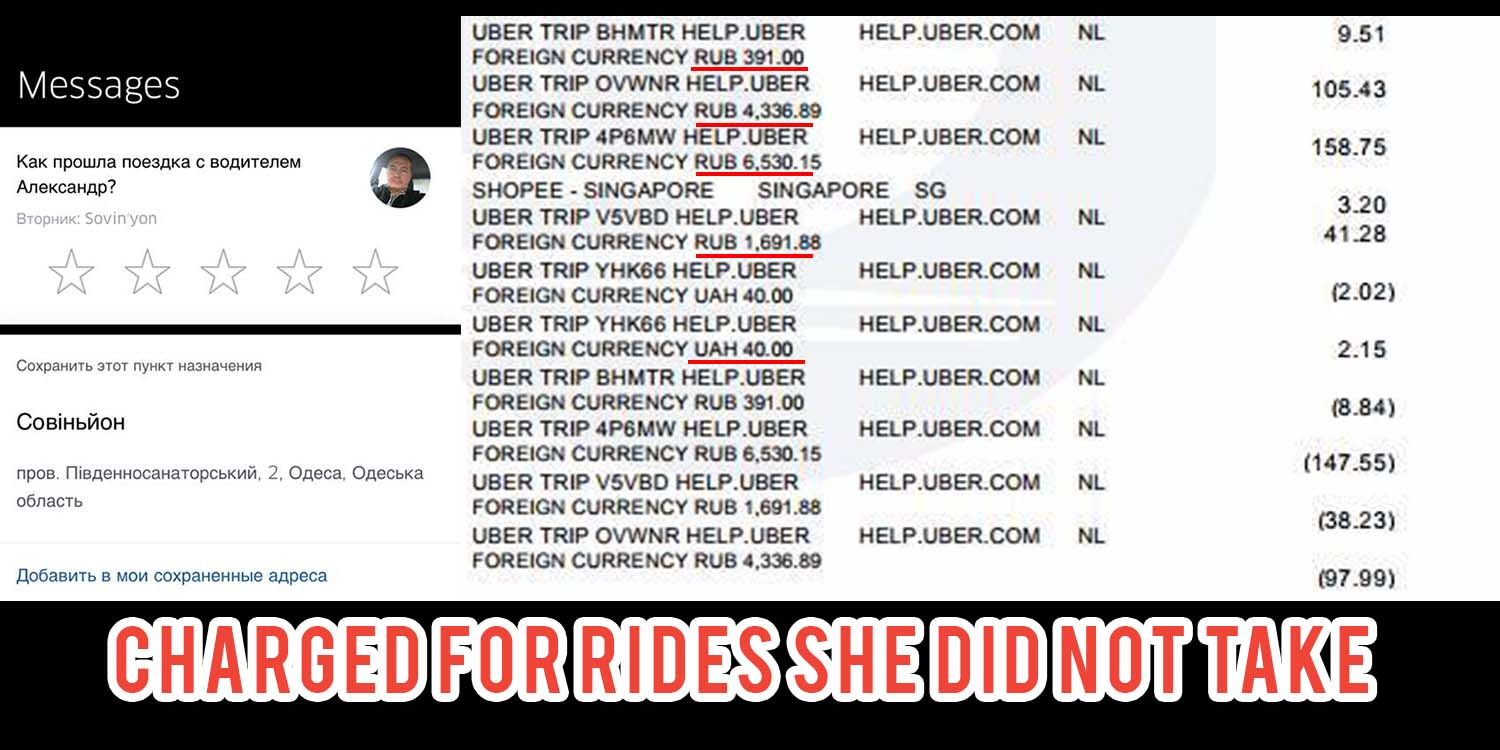 Singaporean's Uber Account Gets Hacked, Ends Up Paying For