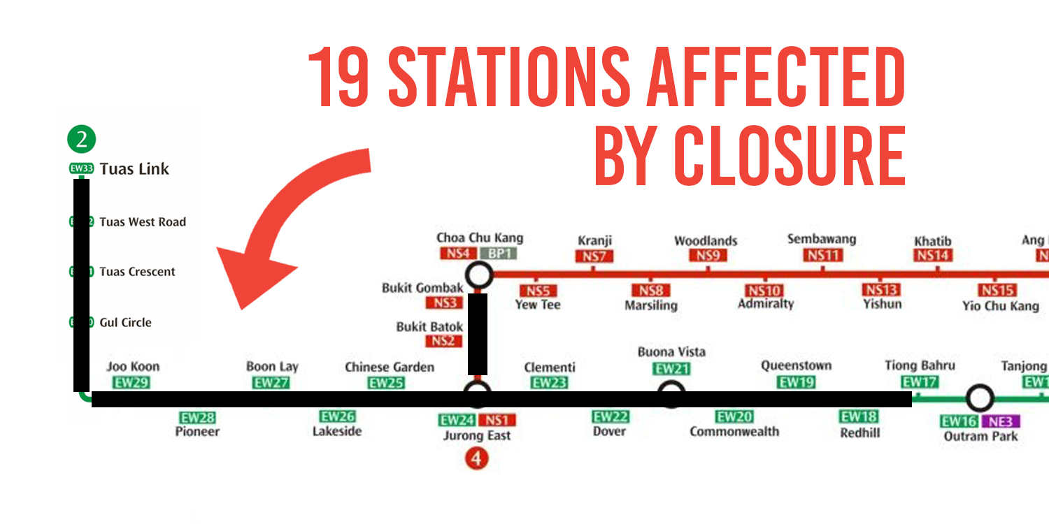 19 MRT Stations To Be Closed On Selected Days In December