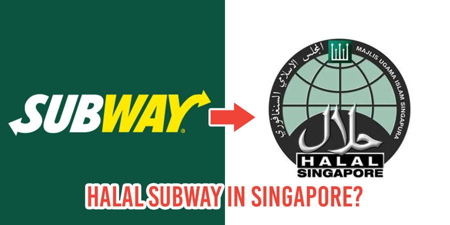 subway singapore may be turning halal and netizens are extremely