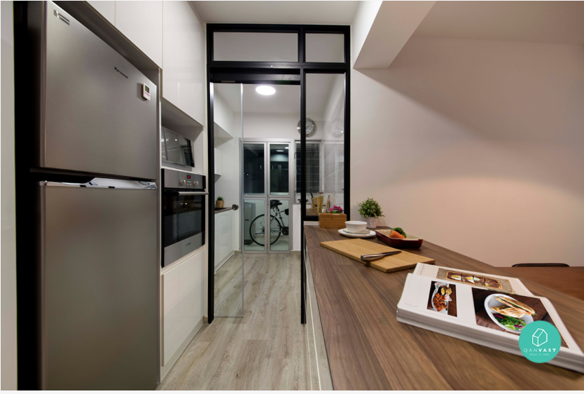 9 stunning hdb open kitchen concepts that are bto goals for Hdb wet and dry kitchen design