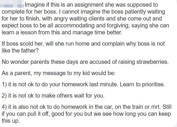 Parents Wonder Why So Much Homework >> Girl Doesn T Do Her Homework And Is Late For School Her Father Is