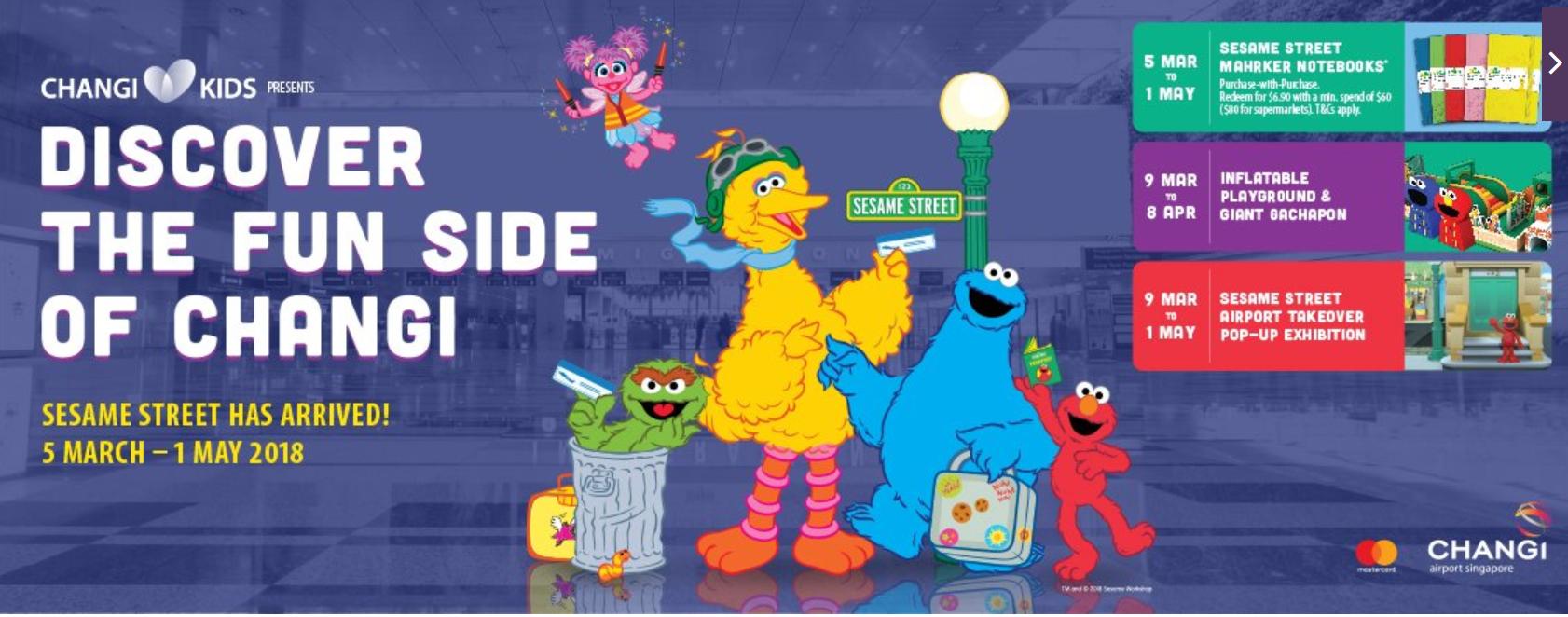 Sesame Street Takes Over Changi Airport With A Giant Elmo