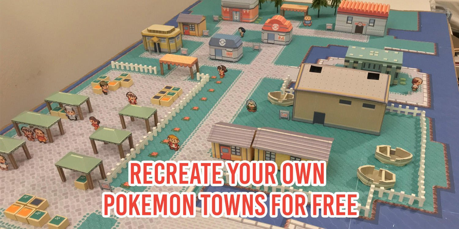 Build 3D Paper Pokemon Towns With Free Templates As An Epic