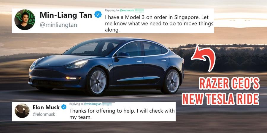 Razer CEO MinLiang Tan Tweets Elon Musk About Tesla Car Order - Show me pictures of a tesla car