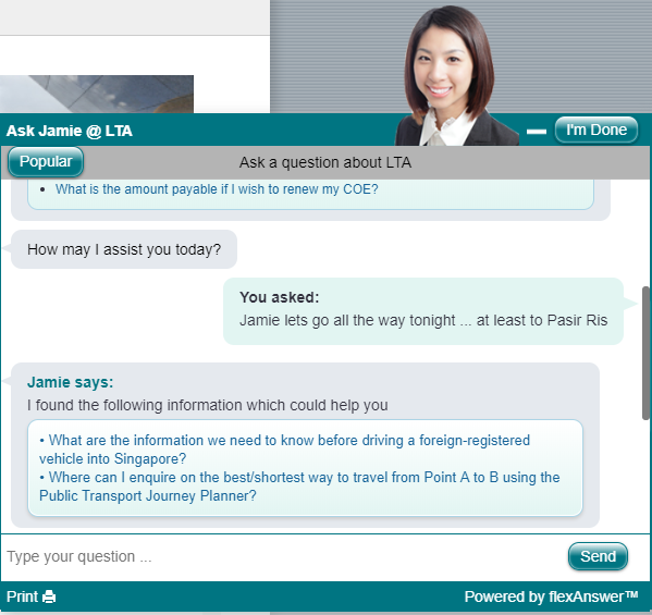 19-Year-Old Tries To Flirt With 'Ask Jamie' AI Chatbots On
