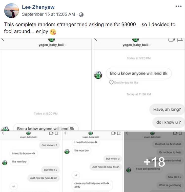 Instagram Scammer Asks For $8,000, Netizen Hilariously Leads Him On
