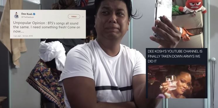 Dee Kosh Admits Staging BTS YouTube Drama, Calls It Social