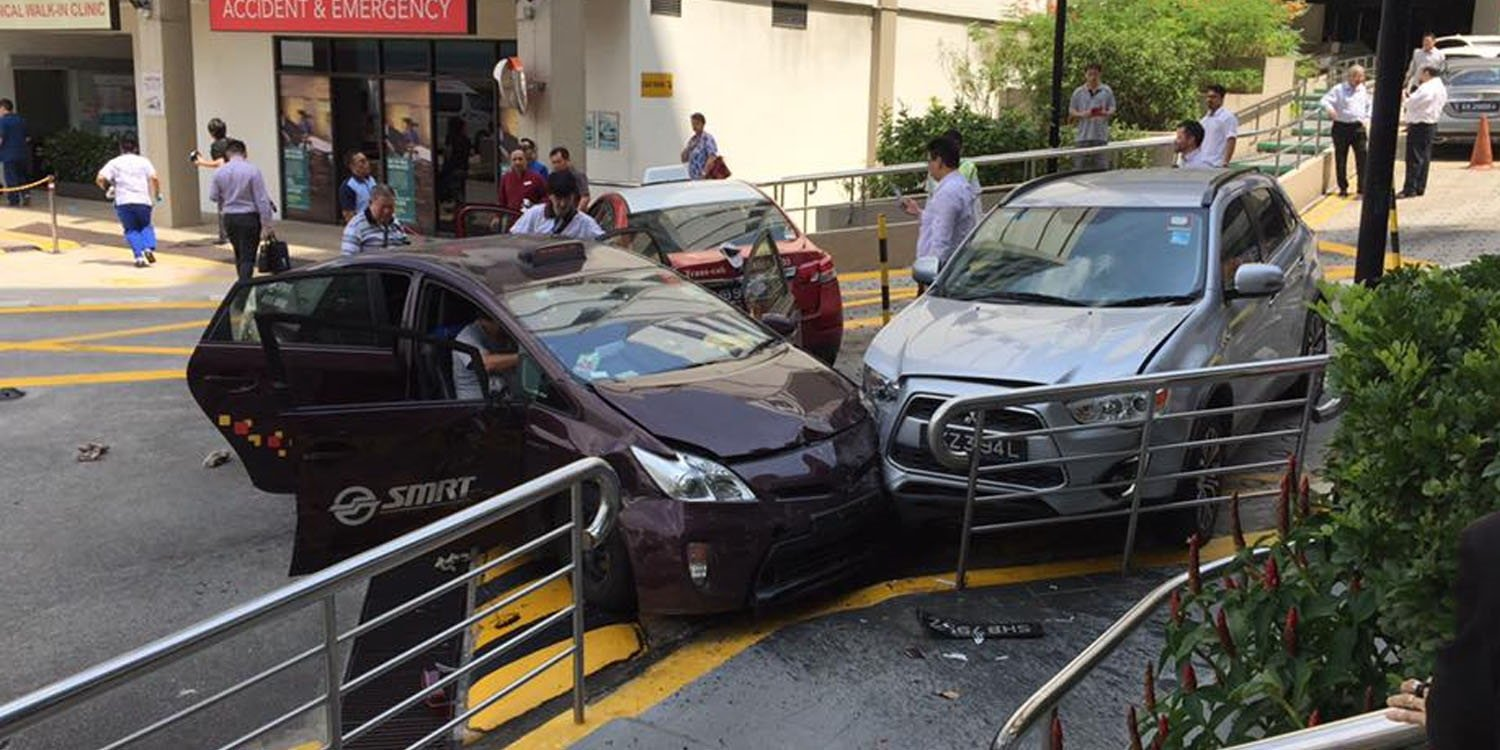Cabby Accelerates Instead Of Braking And Causes Gleneagles Accident