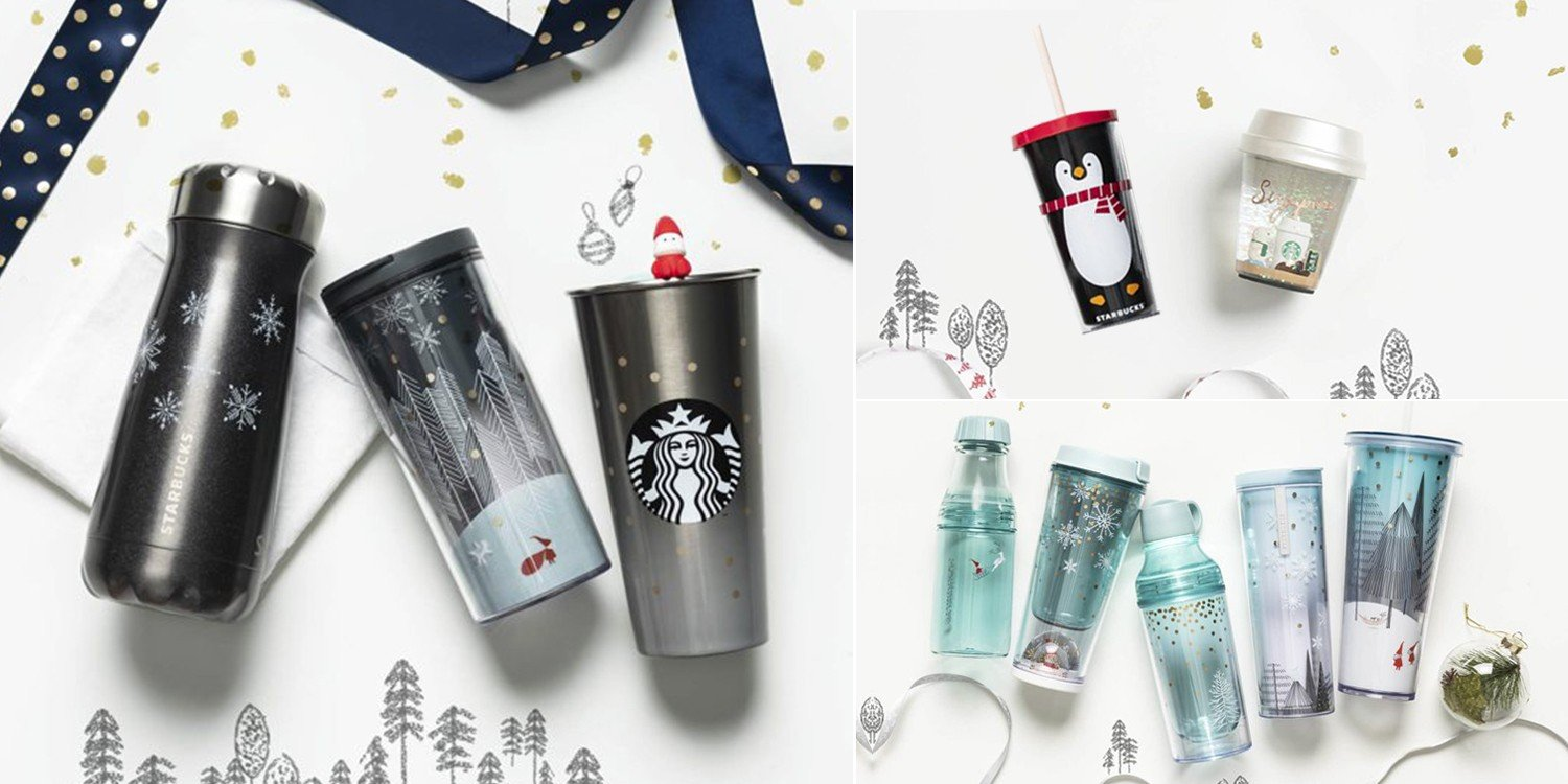 This Year\'s Starbucks Christmas Tumblers Have Pint-Sized Santas, LED ...