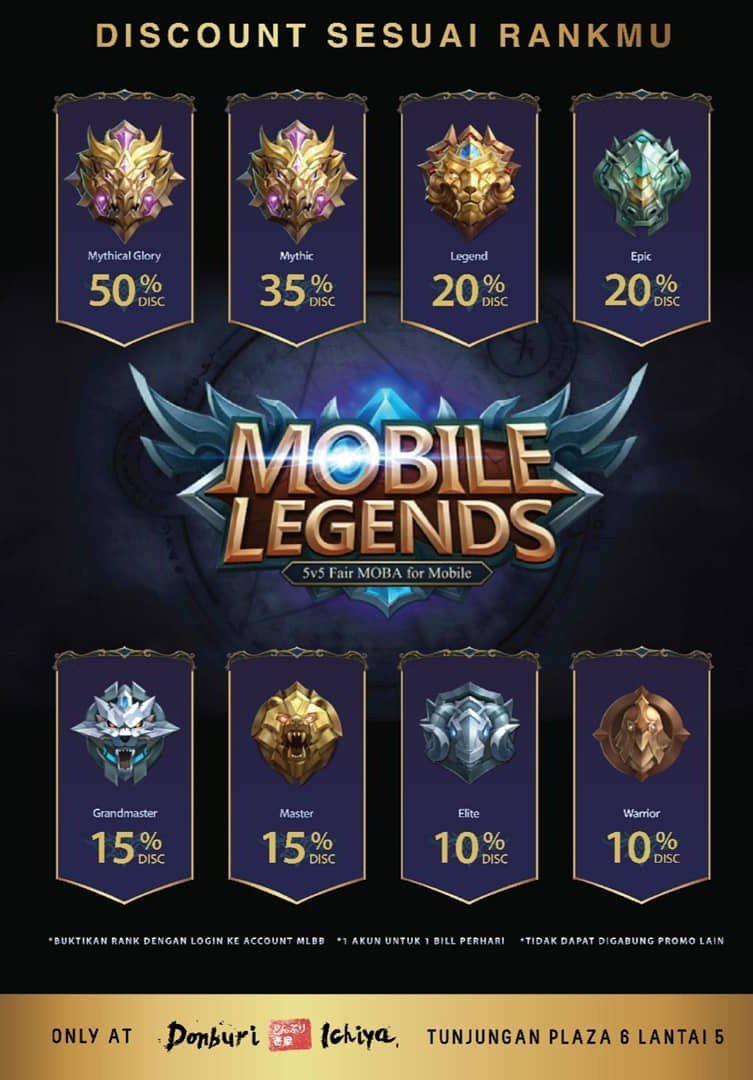 Your Mobile Legends Rank Can Save You 50% At This Eatery In Indonesia