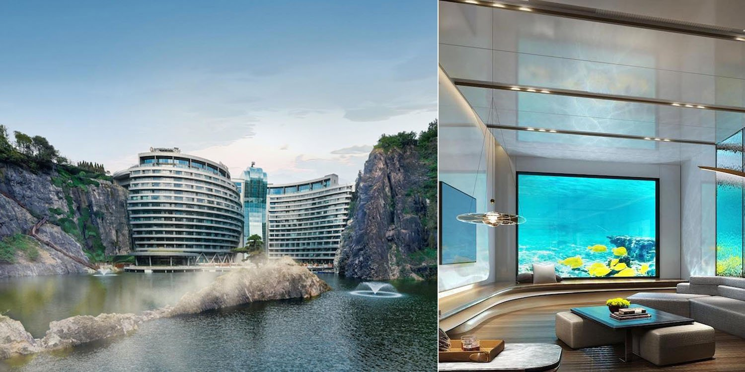 World's First Quarry Hotel In Shanghai Has Underwater Suites