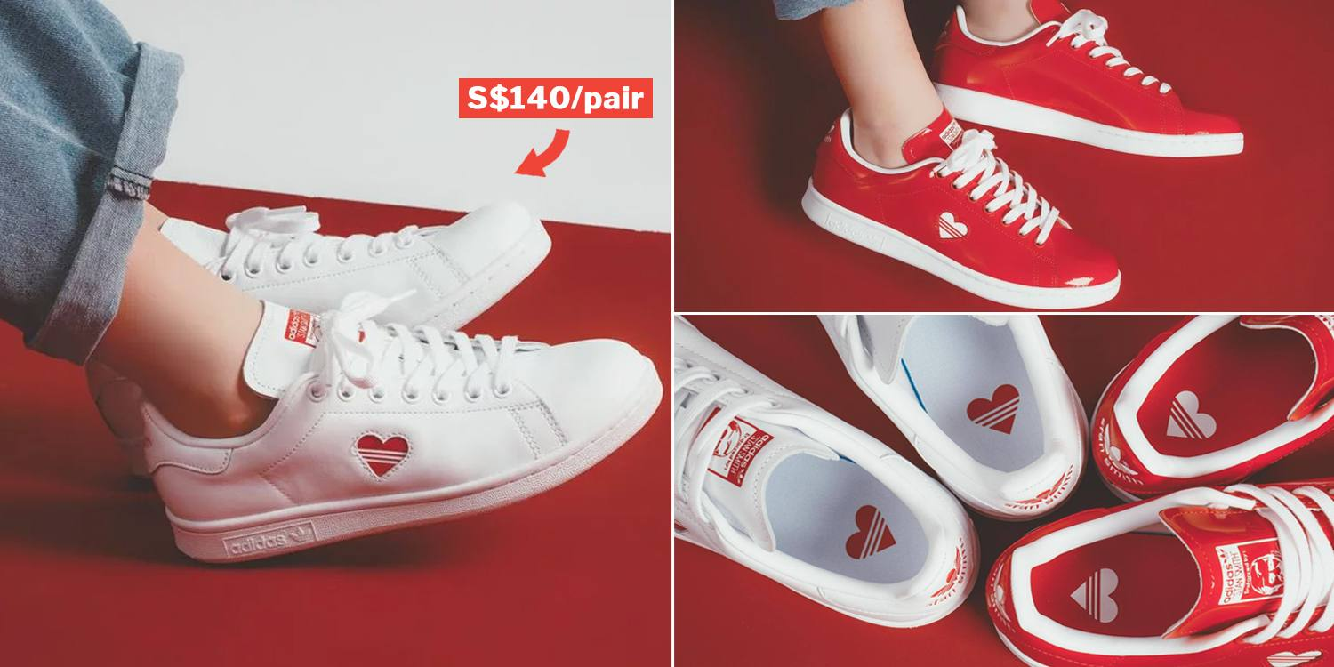 White Adidas Valentines' Stan Smith Sneakers Out On 8 Feb At