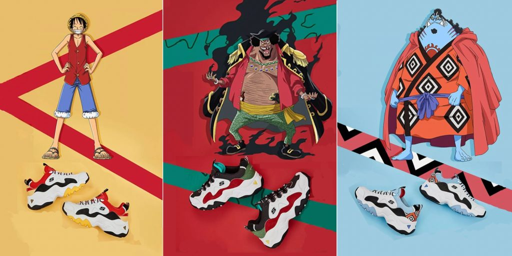 Skechers shoes based on characters from 'One Piece' manga