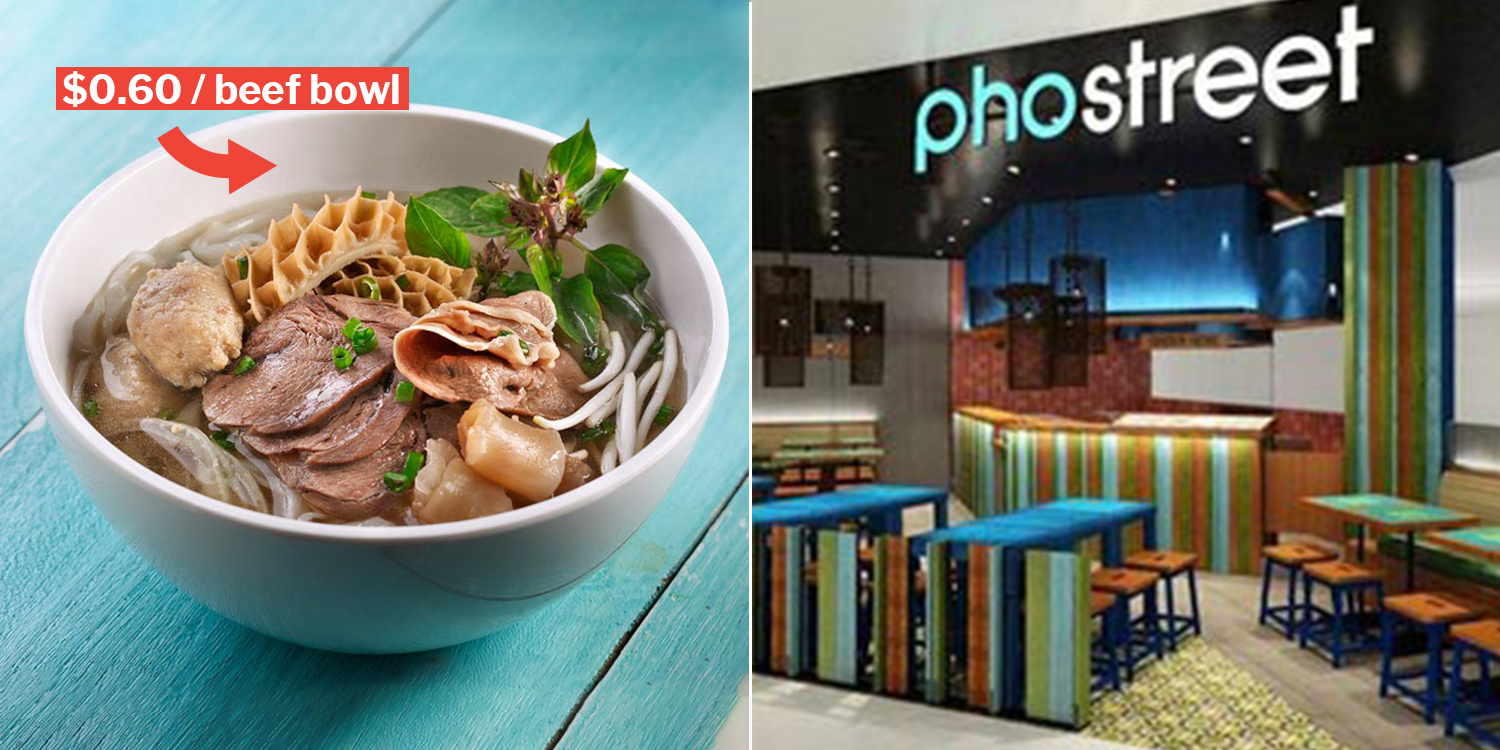 Pho Street Offers $0 60 Beef Combo Bowl At All Outlets On 28 Feb
