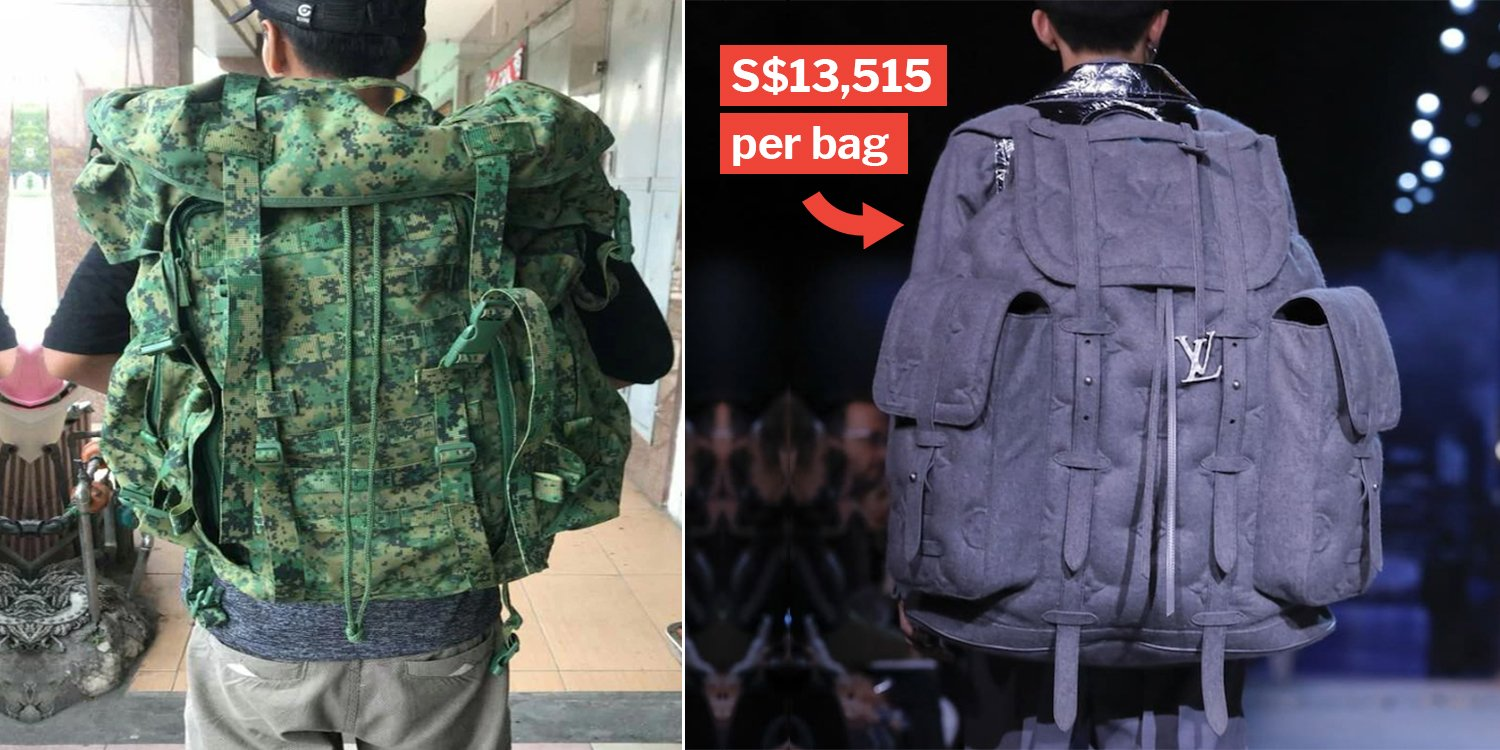 170a6d821766 Louis Vuitton Now Has Hypebeast Bags That Look Like S pore Army Fieldpacks