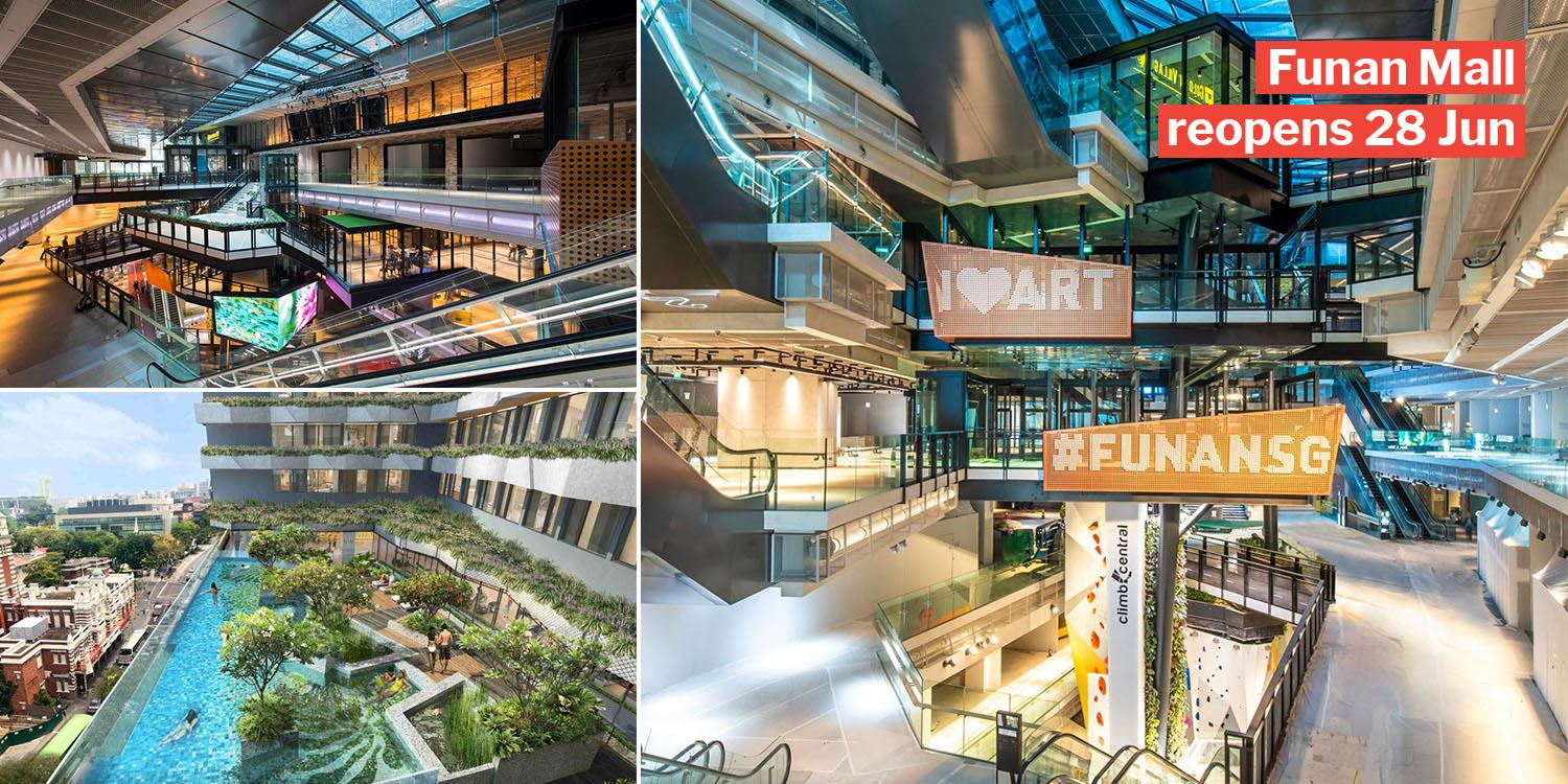 Funan IT Mall Reopens On 28 Jun With Indoor Cycling Track