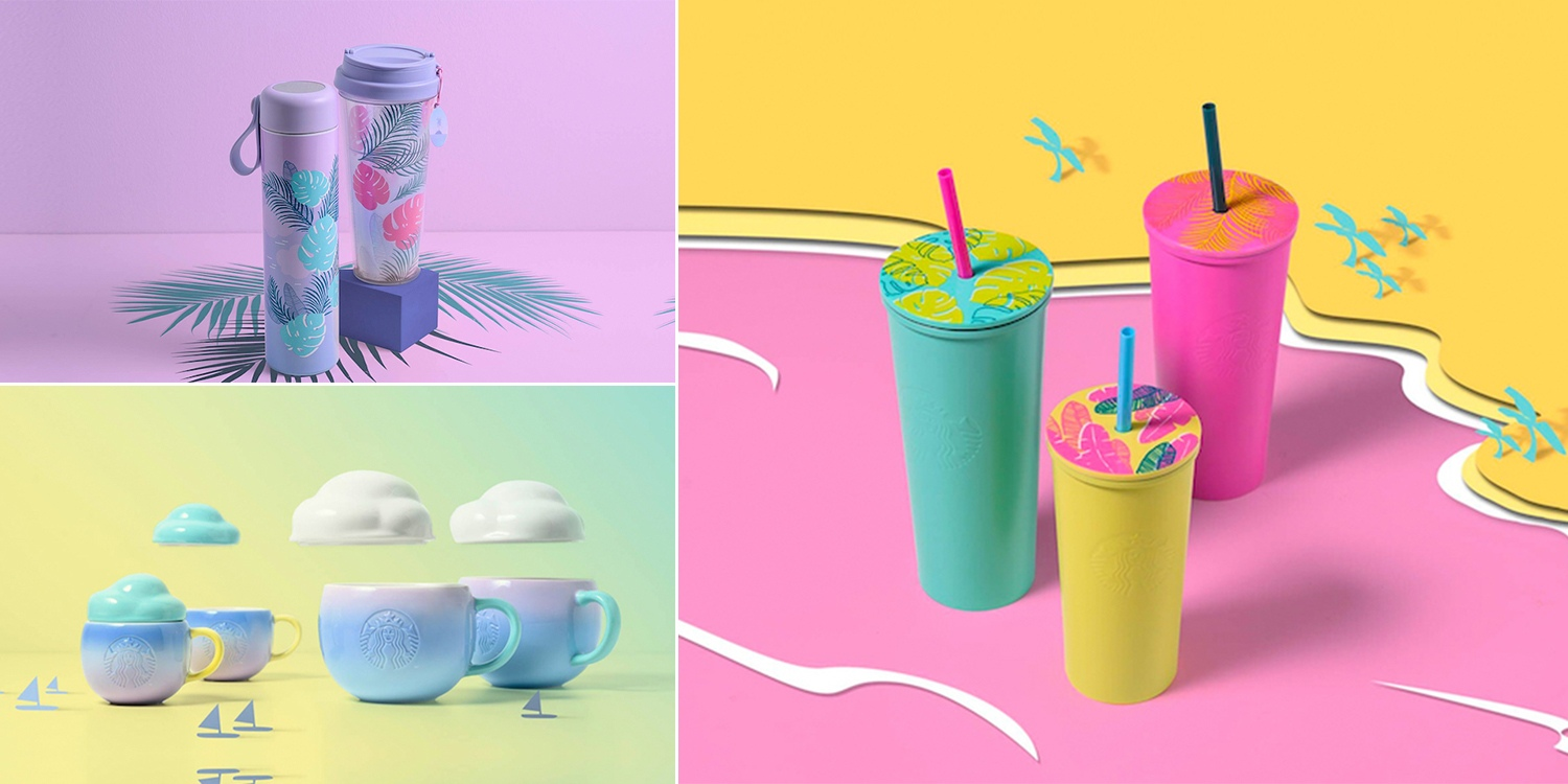 7af902923e6 Starbucks Will Have Tropical Tumblers & Pastel Ombré Cloud Mugs From ...