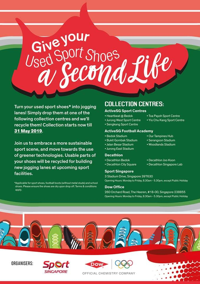 Donate Your Old Sport Shoes & Turn Them Into New Running Tracks