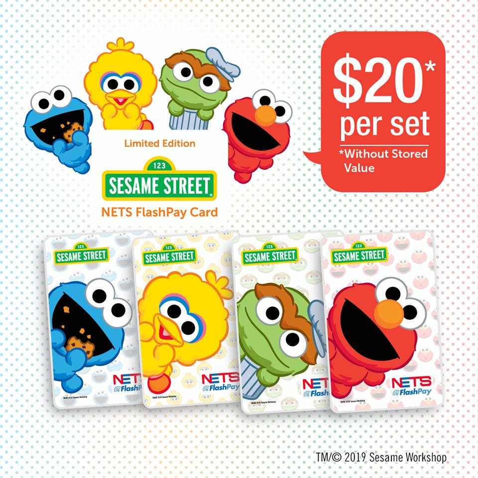 These Baby Elmo & Cookie Monster NETS Flashpay Cards Could