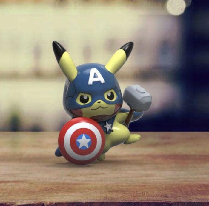 当Pikachu变身Avengers保卫地球!可爱又崩坏的皮卡丘复仇者联盟,实在太萌了!好想要收藏啊!