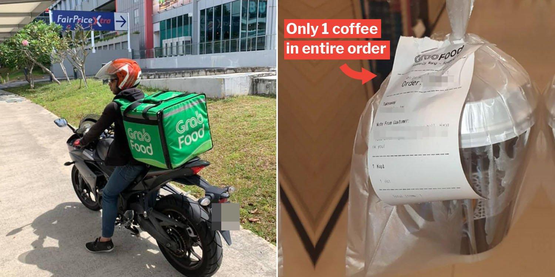 GrabFood Users Order Just 1 Pau Or Kopi & Drivers Actually