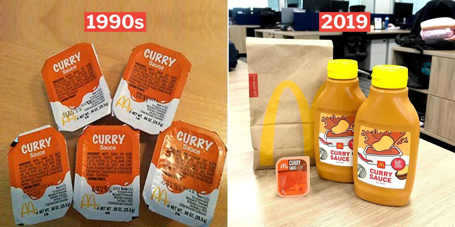 S'porean Fondly Tracks McDonald's Curry Sauce History From Packet To