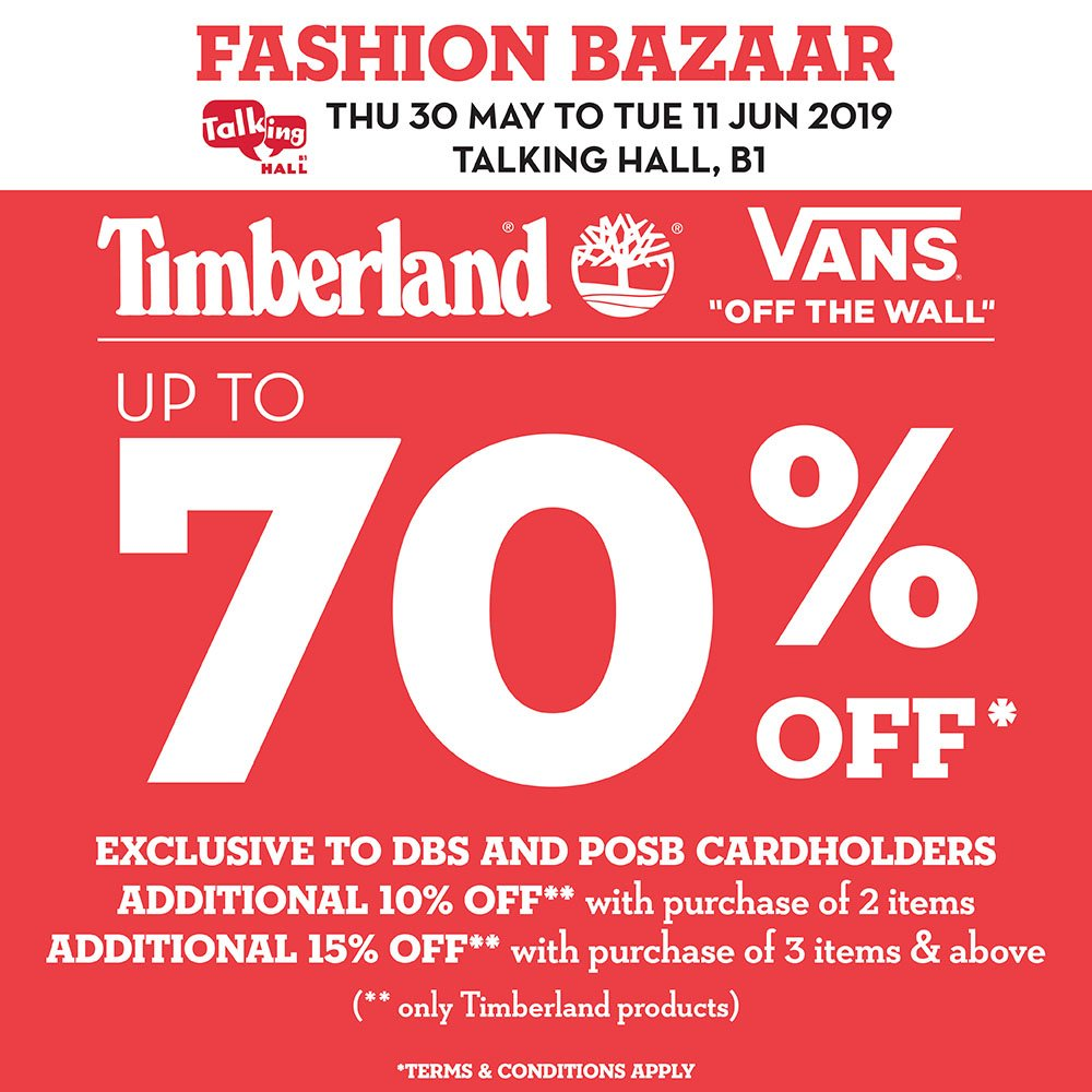 68b335d76 Takashimaya Sale Has Up To 70% Off Vans & Timberland Items Till 11 Jun