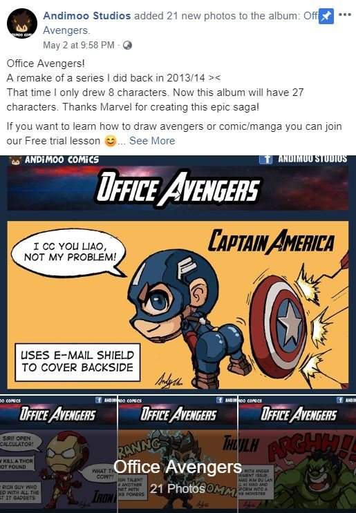 S'pore Artist Draws Adorable Office Avengers Whom We All Spot At