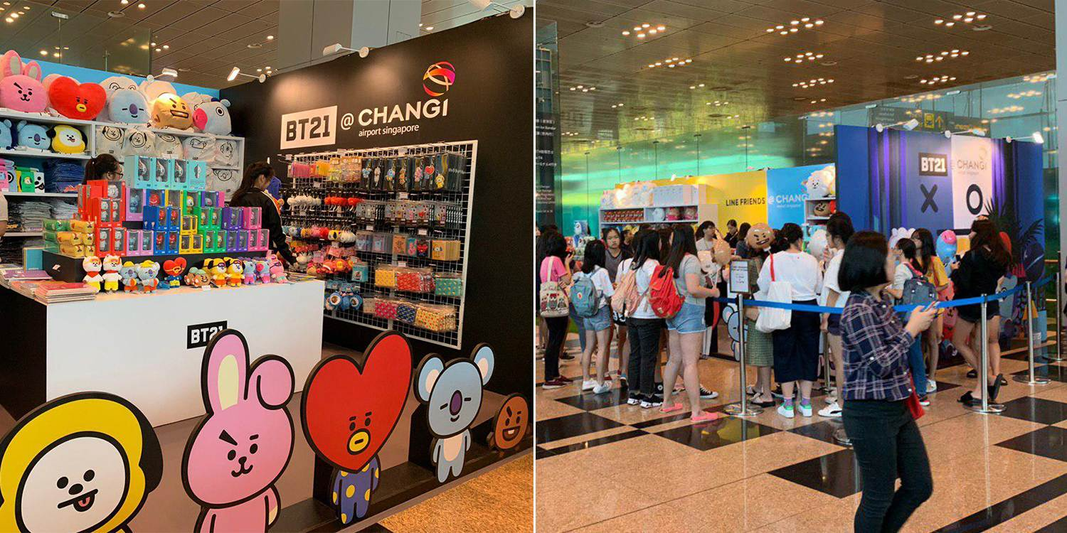 Bt21 Line Friends Pop Up Store At T3 Changi Airport Has Adorable